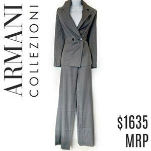Armani Wool Suit Grey Italian Collezioni